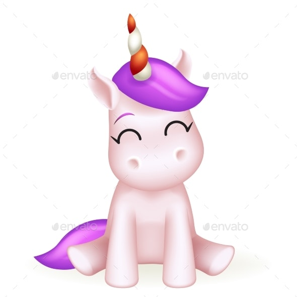 Toy Unicorn Cartoon Character Design - Miscellaneous Characters