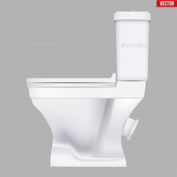 Ceramic Toilet Classic Model - Man-made Objects Objects