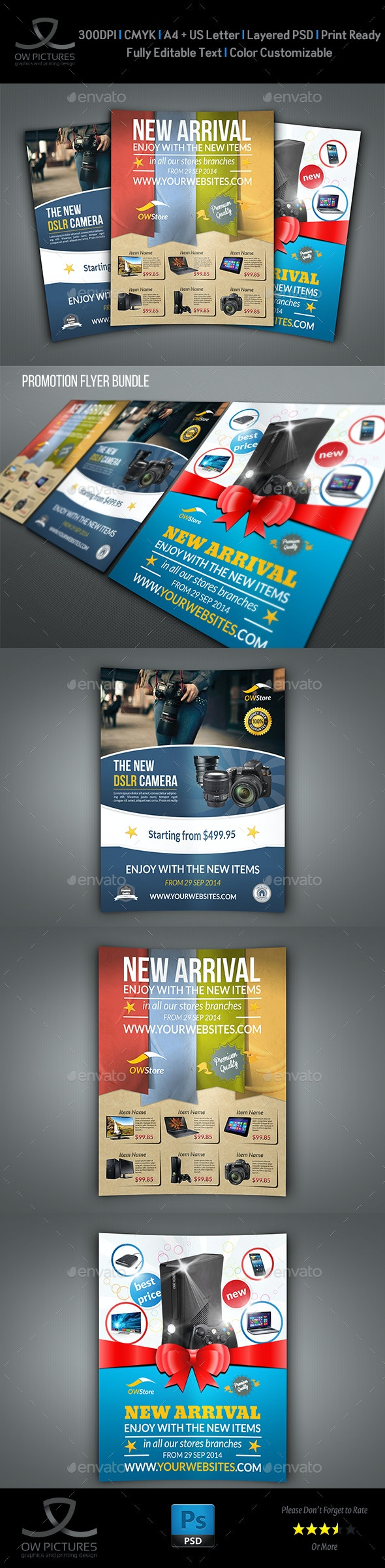 New Arrival Flyer Bundle Template - Commerce Flyers