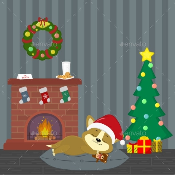 New Year and Christmas Card - Animals Characters