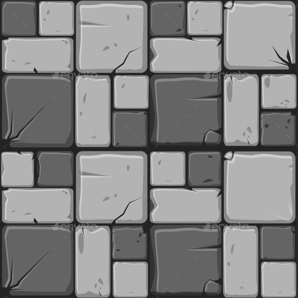 Texture of Gray Stone Tiles Seamless Background - Backgrounds Decorative