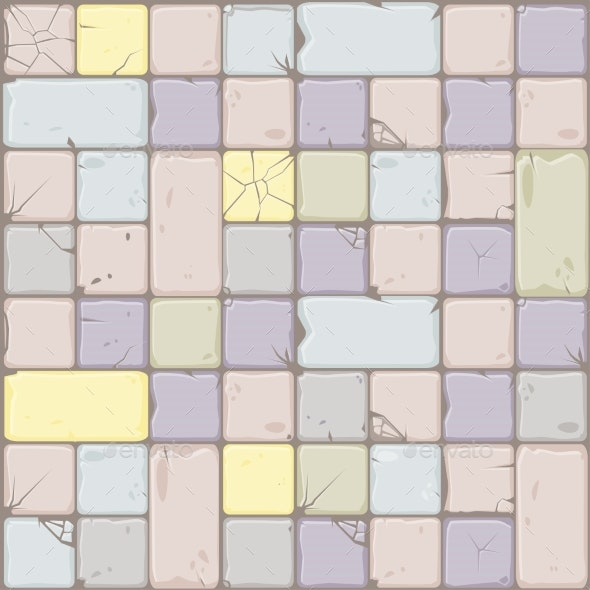 Texture of Pastel Colors Stone Tiles Seamless - Backgrounds Decorative