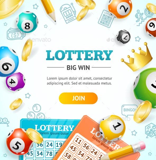 Lottery Concept Banner Card - Miscellaneous Conceptual