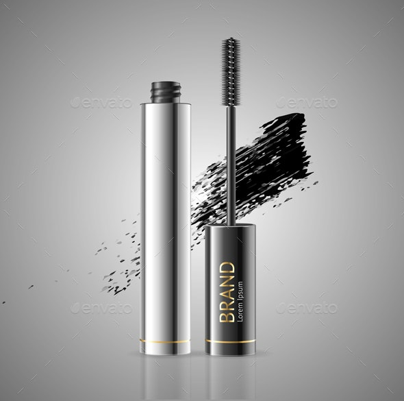 Mascara Package with Eyelash Applicator Brush - Man-made Objects Objects