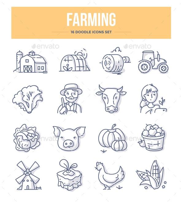 Farming Doodle Icons - Miscellaneous Icons