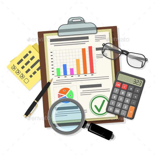 Auditing Tax process Accounting Concept - Services Commercial / Shopping