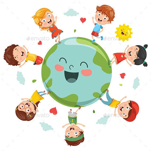 Vector Illustration of Earth Day - Landscapes Nature