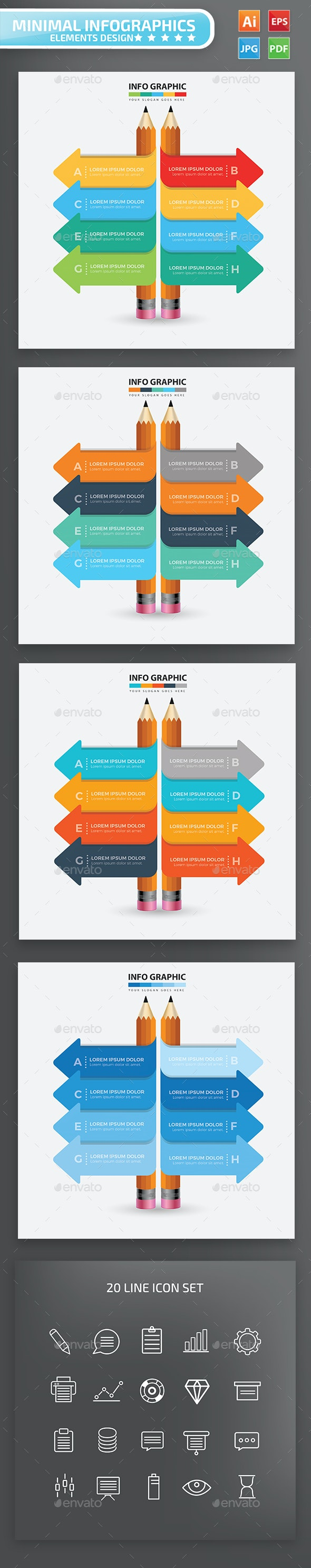 Pencil Infographic Design - Infographics