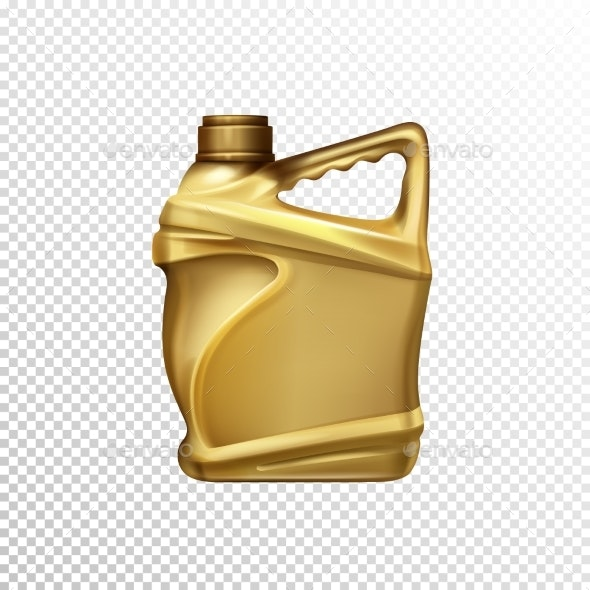 Car Lubricant Bottle Realistic Vector Template - Industries Business