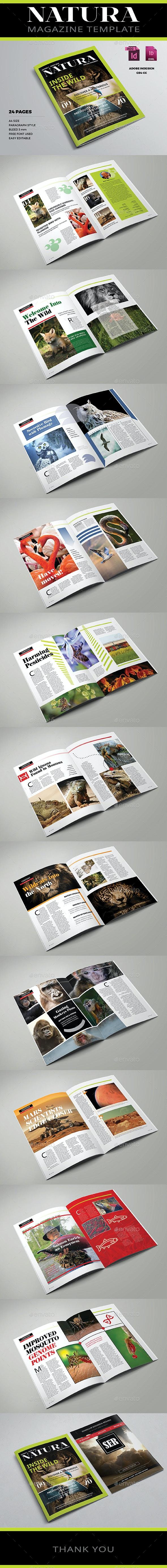 Natura Magazine Template - Magazines Print Templates