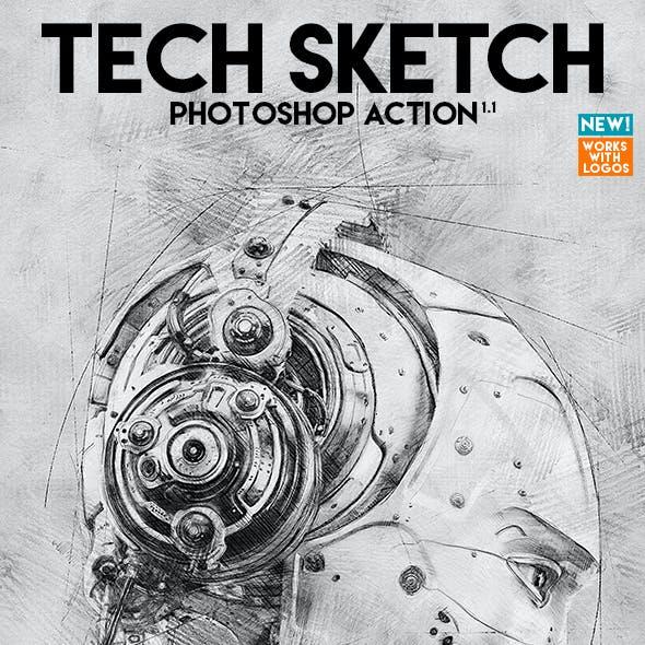 Tech Sketch Photoshop Action