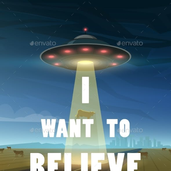 UFO or Flying Saucer in Space