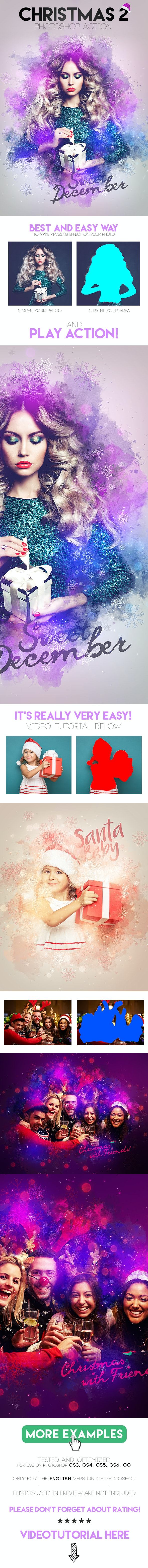 Christmas 2 Photoshop Action - Photo Effects Actions