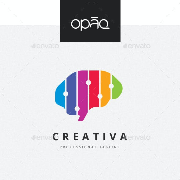 Colorful Creative Brain Logo