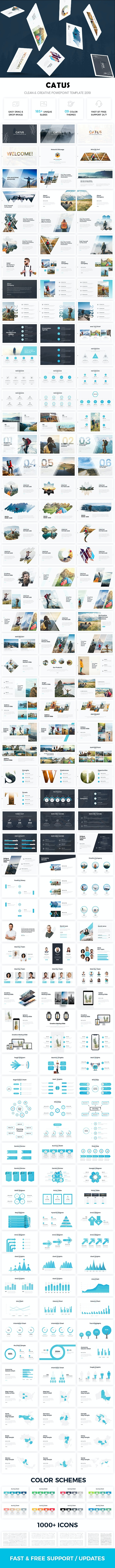 Catus - Clean & Creative Powerpoint Template 2019 - Creative PowerPoint Templates