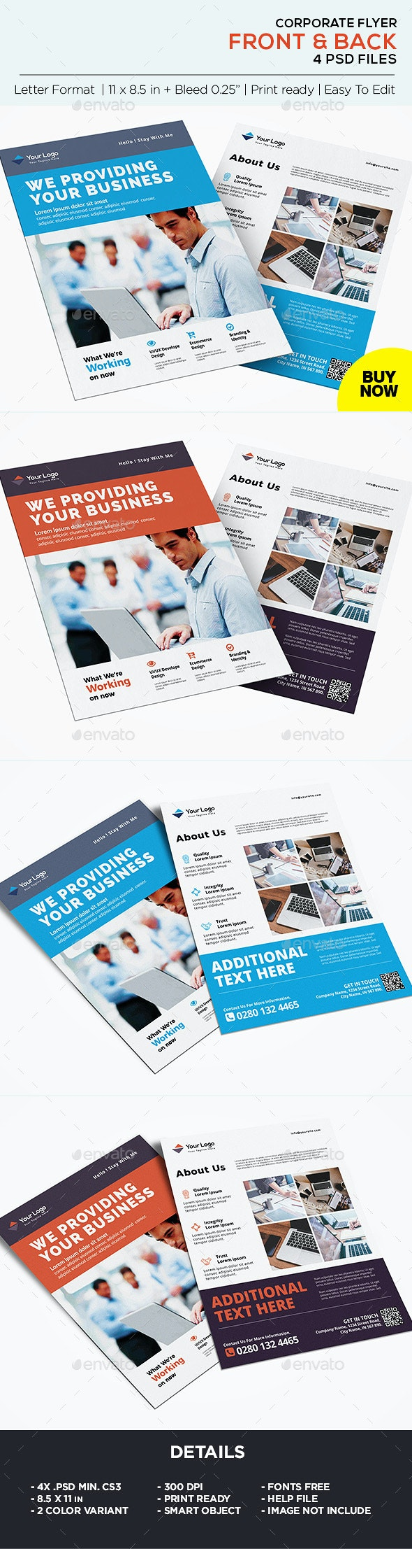 Business Flyer & Corporate Flyer Template - Corporate Flyers