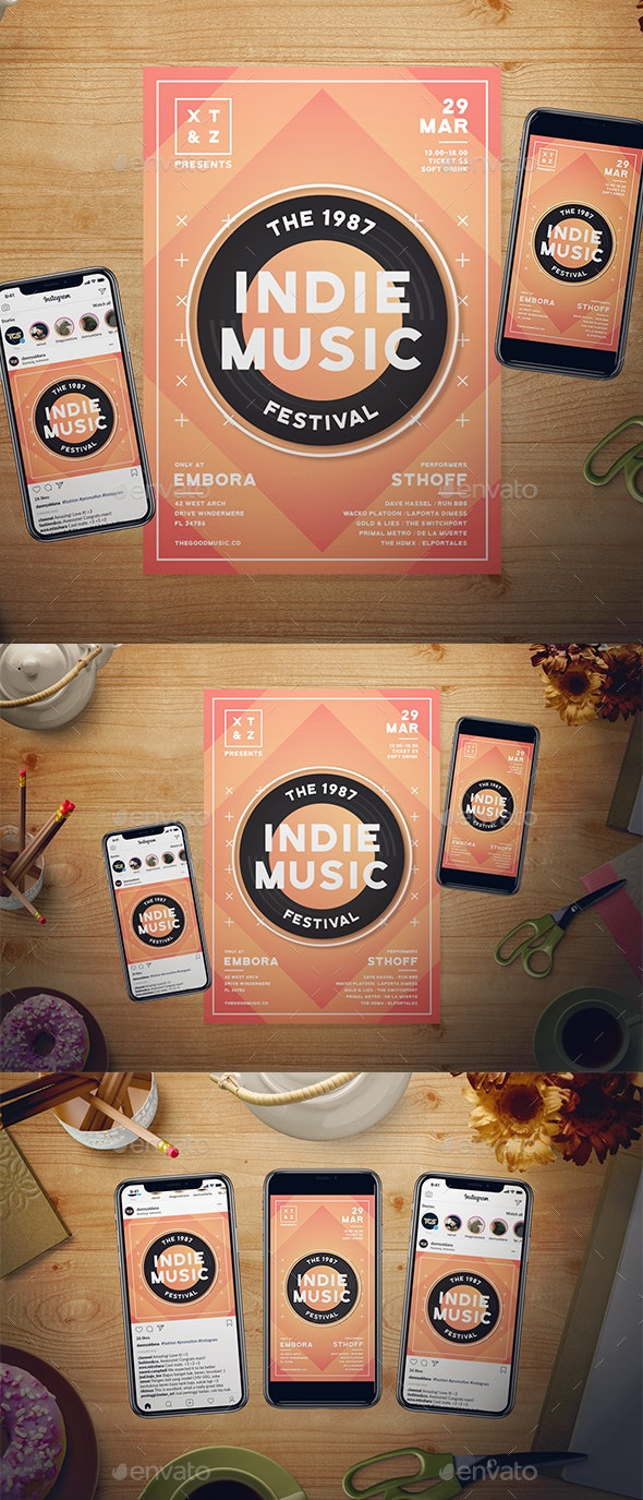 Indie Music Flyer Set - Events Flyers