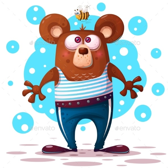 Bear Illustration Animal Character. - Animals Characters