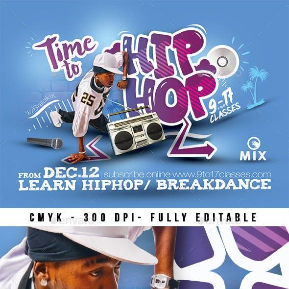 Hip Hop Lesson Session Flyer