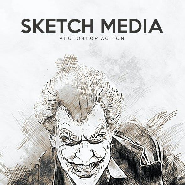 Sketch Media - Photoshop Action