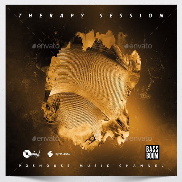Therapy Session - Music Album Cover Artwork Template