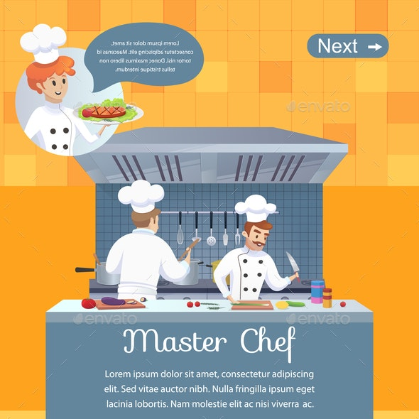 Culinary Concept Illustration Restaurant Business - People Characters