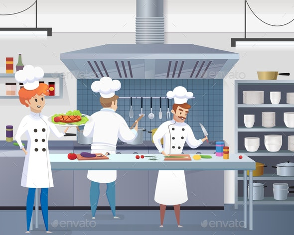 Culinary Concept Illustration Restaurant Business Vector - People Characters
