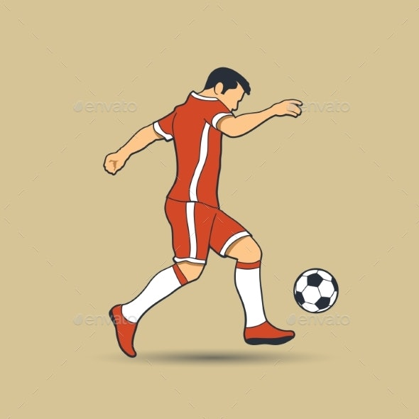 Soccer Player Shooting a Ball - Sports/Activity Conceptual