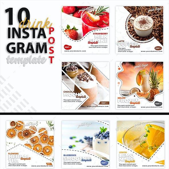 Instagram Post Template - Drink