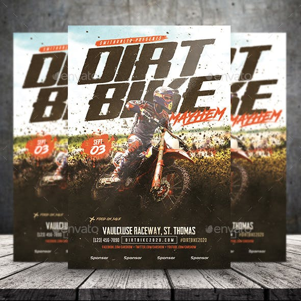 Motocross/Dirt Bike Mayhem Flyer