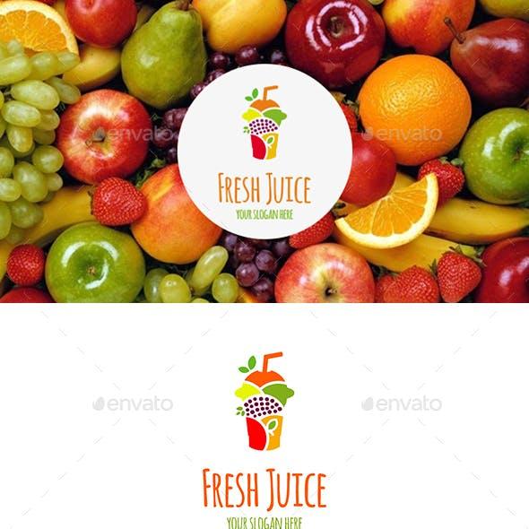 Fresh Juice Fruits Mix Logo