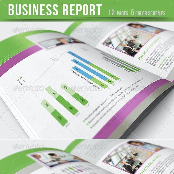 Business Report - Brochure - 5 color schemes