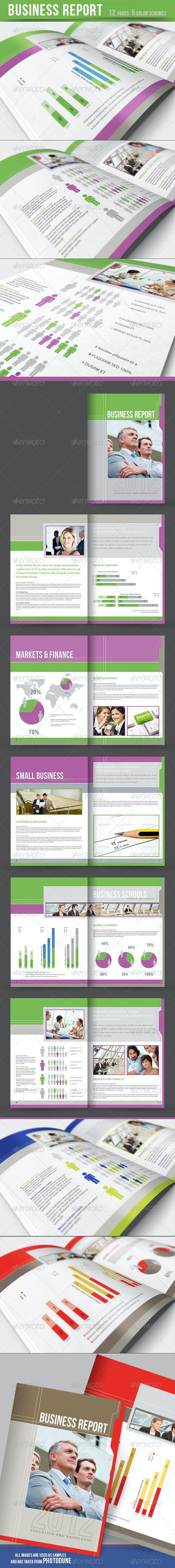 Business Report - Brochure - 5 color schemes - Corporate Brochures