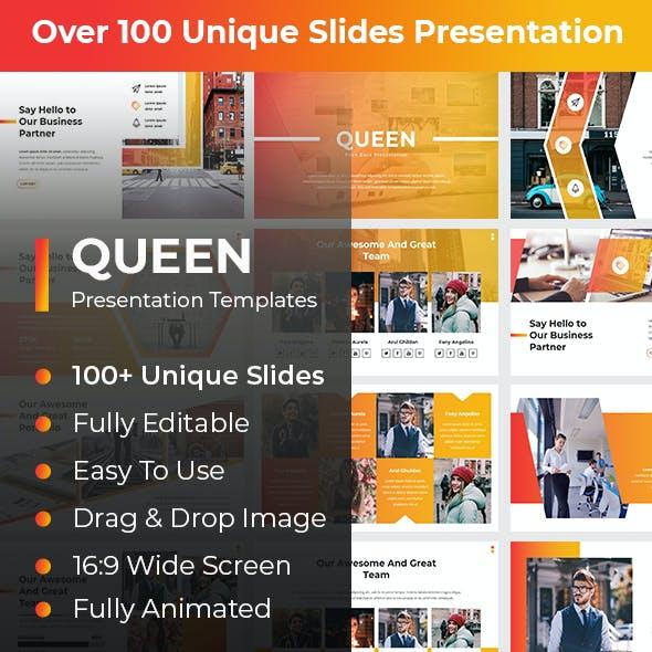 Queen Pitch Deck PowerPoint Template