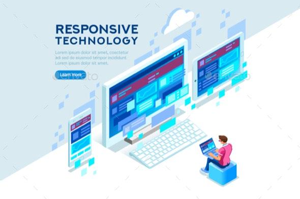 Responsive Technology Illustration - Computers Technology