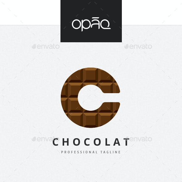 Chocolate C Letter Logo