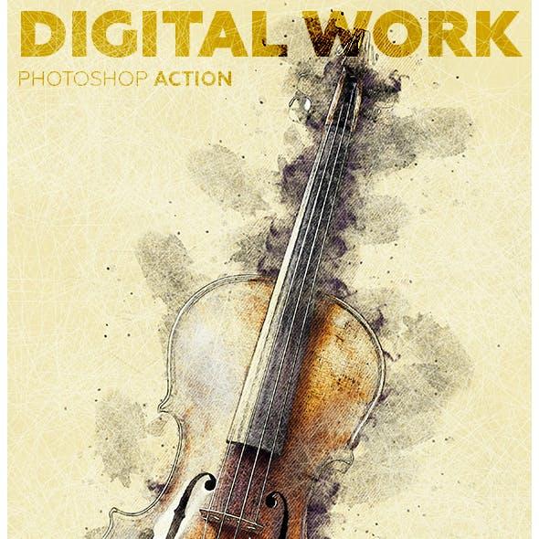 Digital Work Photoshop Action