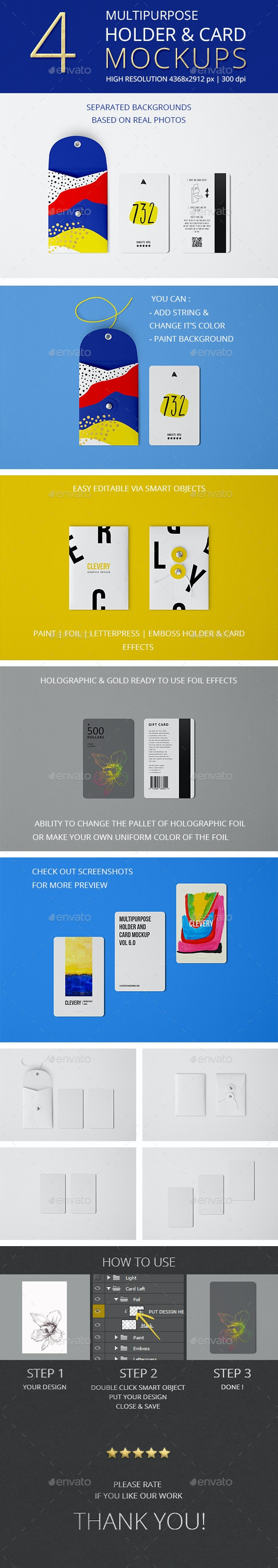 Multipurpose Holder & Card Mockup Vol 6.0 - Miscellaneous Print