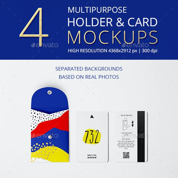 Multipurpose Holder & Card Mockup Vol 6.0