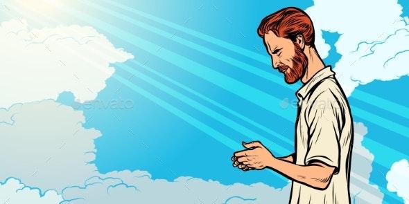 Prayer Man Religion and Faith - Religion Conceptual
