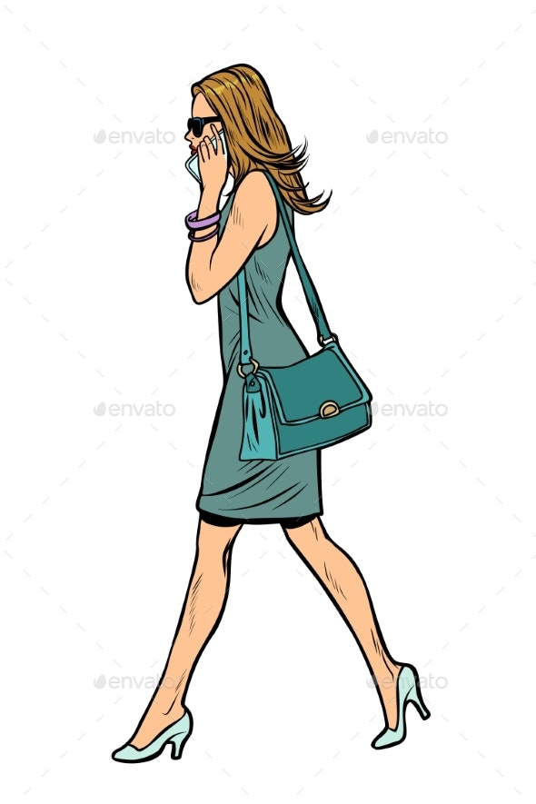 Woman in Dress - People Characters