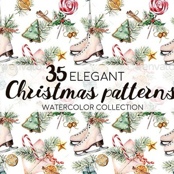 Elegant Christmas patterns