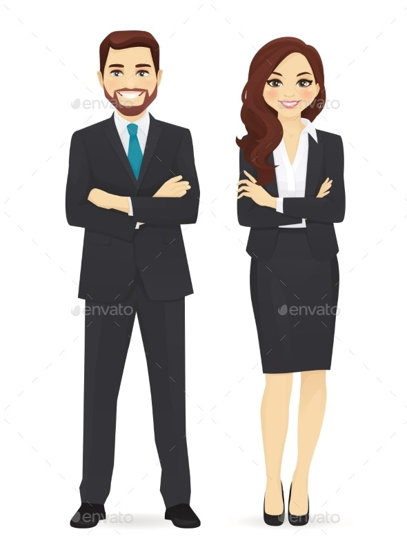 Business Man and Woman - Miscellaneous Vectors