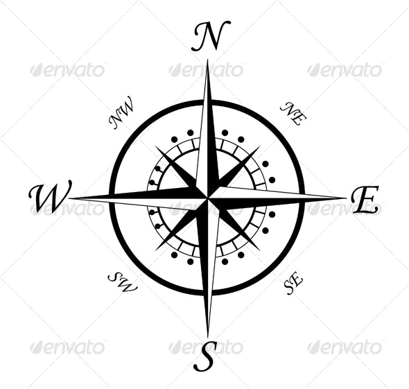 Compass symbol 3 - Decorative Vectors