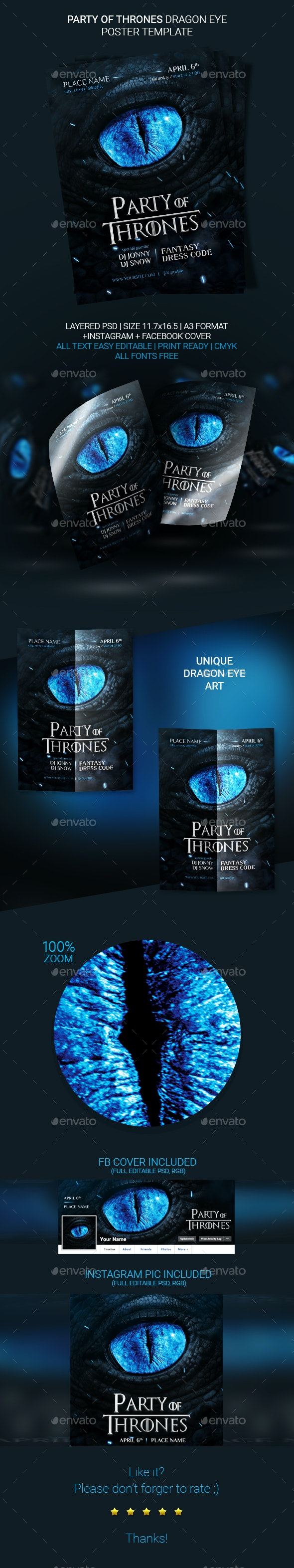 Party Of Thrones Poster Template - Events Flyers