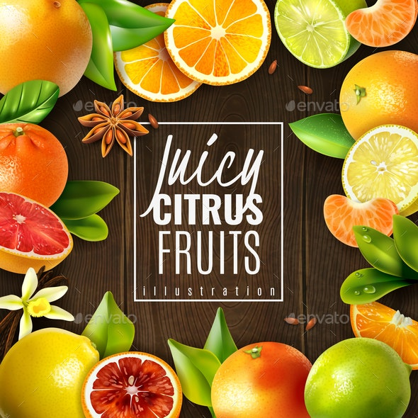 Citrus Fruit Background - Food Objects