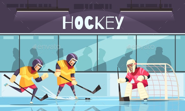 Ice Hockey Background - Sports/Activity Conceptual
