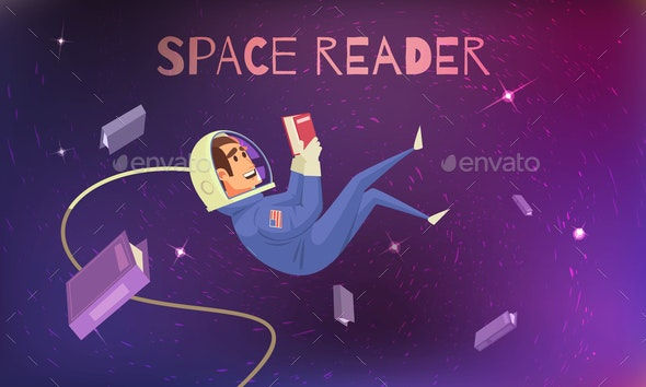 Space Reading Background - People Characters