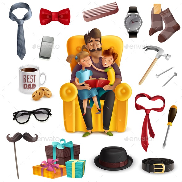 Fathers Day Set - Miscellaneous Vectors