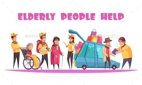 Help Elderly People Banner - Health/Medicine Conceptual